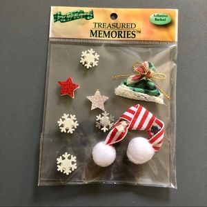 Christmas Winter Scrapbook Stickers NWT